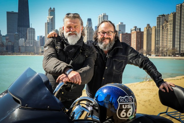 Si King and Dave Myers in Hairy Bikers: Route 66 on BBC