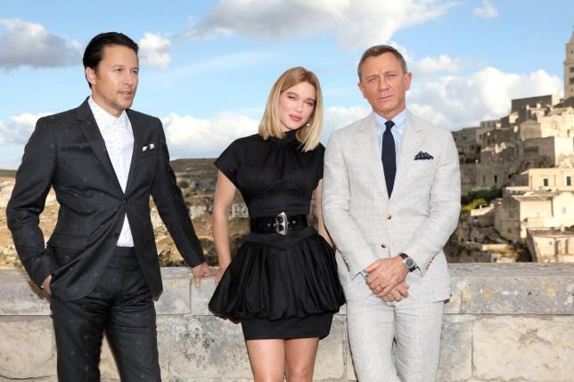 Daniel Craig and James Bond co-star Lea Seydoux on 007 set with director