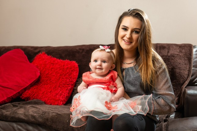 New mum Kiera Meldrum, 20, who was told several times to terminate her pregnancy, before giving birth (with some complications) to little Lillee-Rose, now 6mths, pictured at home near York. See SWNS story SWSYmiracle. A determined young mum who was told to abort her daughter 14 times has defied doctors' advice and now brought home a healthy baby girl. Kiera Meldrum, 20, was offered an abortion every week following her 21-week scan which showed her unborn child had Grade 3 severe ascites to the bowel. The build up of fluid caused a catalogue of complications, but Kiera - who had suffered four previous miscarriages - refused to abort her daughter. Kiera went into labour at 34 weeks and was terrified of losing daughter Lillee-Rose as she was whisked away for emergency surgery minutes after birth.