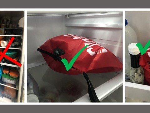 You can get a bag that locks up your food to stop colleagues nicking your lunch