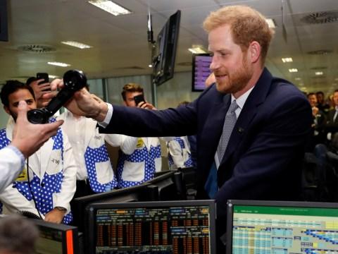 Prince Harry closes £1 billion deal on financial trading floor