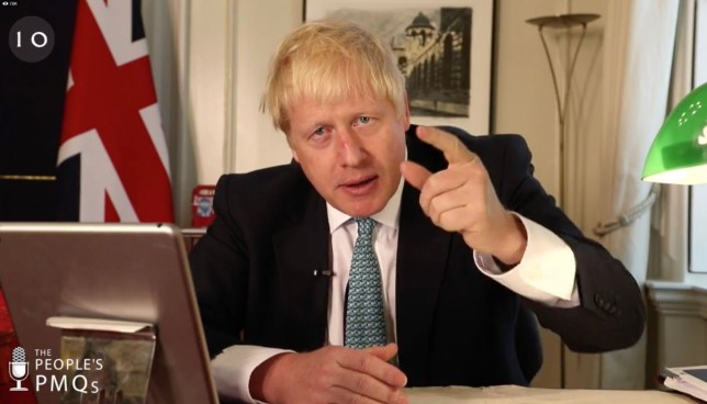 Boris Johnson calls Remain MPs undemocratic in 'People's PMQs'