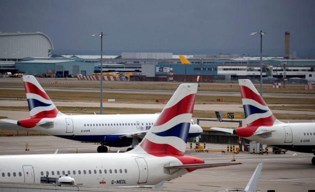 File photo dated 09/09/19 of British Airways planes at Terminal Five at Heathrow Airport, London, on day one of the first-ever strike by British Airways pilots. British Airways has begun cancelling hundreds of flights ahead of the next strike by pilots. PA Photo. Issue date: Thursday September 12, 2019. Tens of thousands of passengers are expected to be affected by the disruption on September 27. See PA story INDUSTRY BA. Photo credit should read: PA/PA Wire