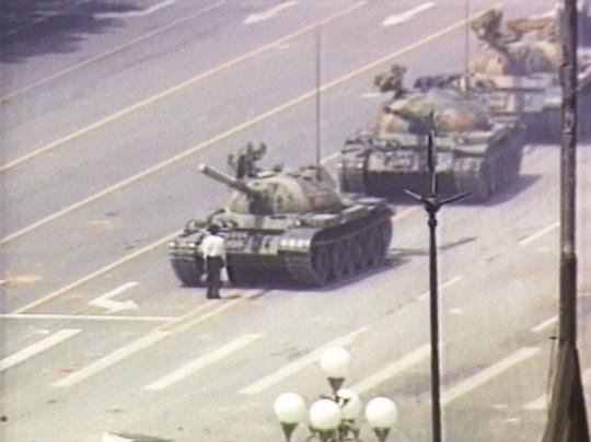 L'homme tank de la place Tiananmen