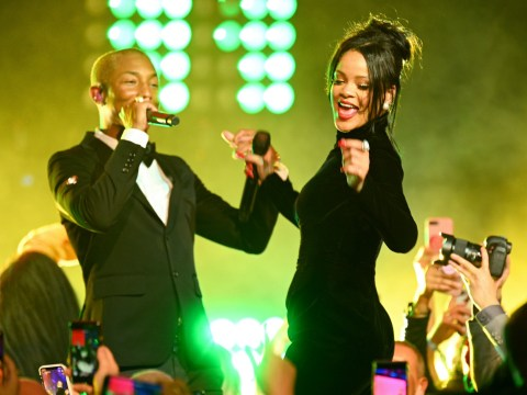 Rihanna makes us even more desperate for new music as she performs with Pharrell Williams at Diamond Ball