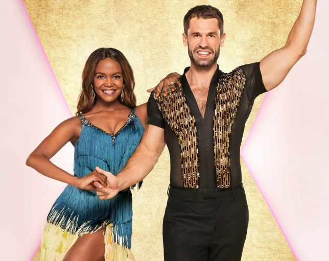 Kelvin Fletcher with his Strictly Come Dancing partner Oti Mabuse