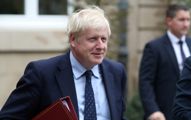 FILE PHOTO: British Prime Minister Boris Johnson leaves after a meeting with Luxembourg's Prime Minister Xavier Bettel in Luxembourg, September 16, 2019. REUTERS/Yves Herman/File Photo