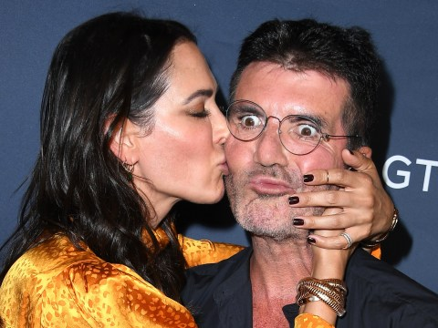 Simon Cowell and Lauren Silverman are all over each other on America's Got Talent red carpet