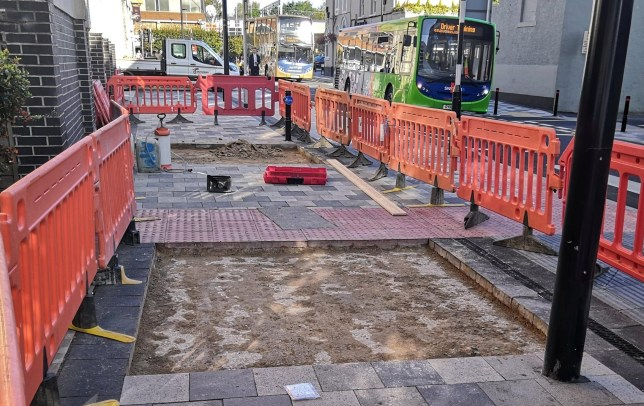 Pavement ripped up because it's too noisy after £800,000 revamp