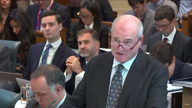 epa07850409 A handout screengrab made available by the Supreme Court of the United Kingdom shows Sir James Eadie representing the UK government during a hearing on the prorogation of parliament, in London, Britain, 18 September 2019. The Supreme Court is due to rule on 19 September whether the suspension of parliament by British Prime Minister Boris Johnson was lawful. EPA/SUPREME COURT / HANDOUT MANDATORY CREDIT: CROWN COPYRIGHT HANDOUT EDITORIAL USE ONLY/NO SALES