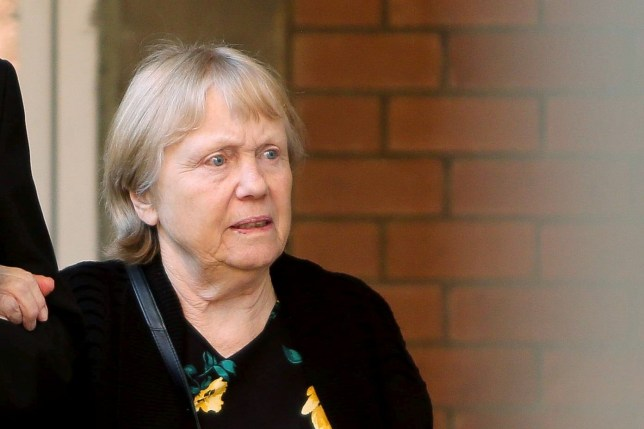 FILE PICTURE - Mavis Eccleston at Stafford Crown Court. 02/09/2019. Mavis Eccleston has been found not guilty of both the murder and manslaughter of her terminally ill husband Dennis. See SWNS story SWMDdeath. Eccleston, 80, denied the murder and manslaughter of Dennis Eccleston, who prosecutors claimed was unaware he was taking a potentially lethal overdose of prescription medication before his death in February last year. A two-week trial at Stafford Crown Court heard Mrs Eccleston was arrested a day after her husband passed away in hospital, after she allegedly made an admission to two mental health nurses. Before asking the jury to retire, Judge Michael Chambers QC instructed them not to feel under any pressure of time during their deliberations. The jury was sent away until 10.15am on Wednesday after deliberating for around two hours.