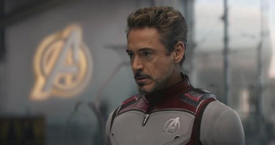 Robert Downey Jr as Iron Man in Avengers: Endgame