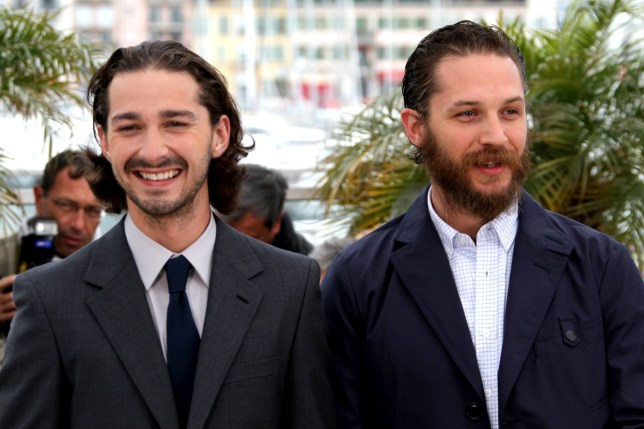 Shia LaBeouf and Tom Hardy Lawless film photocall in 2012