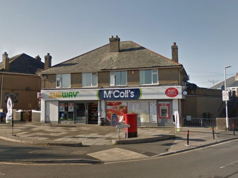 Security guard avoids masked robber gang after locking himself in cage