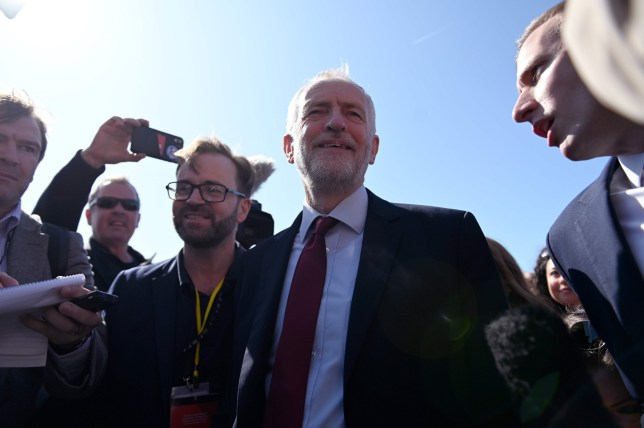 Britain's main opposition Labour Party leader Jeremy Corbyn arrives for the Labour party conference in Brighton, on the south coast of England on September 21, 2019. (Photo by DANIEL LEAL-OLIVAS / AFP)DANIEL LEAL-OLIVAS/AFP/Getty Images