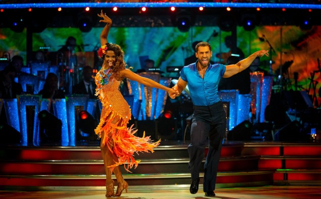 Kelvin Fletcher and Oti Mabuse do the samba on Strictly Come Dancing 2019