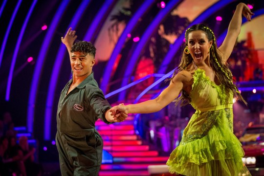 For use in UK, Ireland or Benelux countries only Undated BBC handout photo of Karim Zeroual and Amy Dowden during BBC1 dance contest, Strictly Come Dancing. PA Photo. Issue date: Saturday September 21, 2019. See PA story SHOWBIZ Strictly. Photo credit should read: Guy Levy/BBC/PA Wire NOTE TO EDITORS: Not for use more than 21 days after issue. You may use this picture without charge only for the purpose of publicising or reporting on current BBC programming, personnel or other BBC output or activity within 21 days of issue. Any use after that time MUST be cleared through BBC Picture Publicity. Please credit the image to the BBC and any named photographer or independent programme maker, as described in the caption.