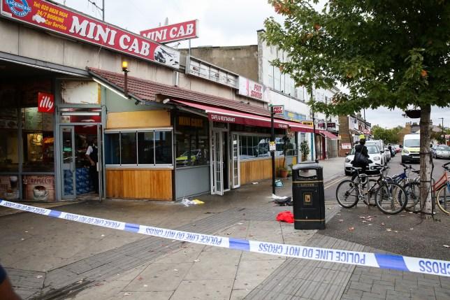 Three men stabbed near north London tube station