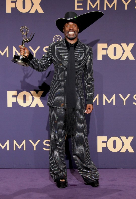 71st Emmy Awards (2019) Press Room held at the Microsoft Theatre in Los Angeles, California. Featuring: Billy Porter, Emmy Winner for Outstanding Lead Actor in a Drama Series for ???Pose??? Where: Los Angeles, California, United States When: 22 Sep 2019 Credit: Adriana M. Barraza/WENN.com