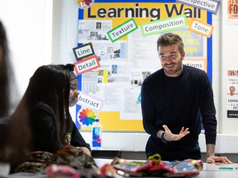 David Beckham launches British Fashion Council's fashion studio apprenticeship scheme