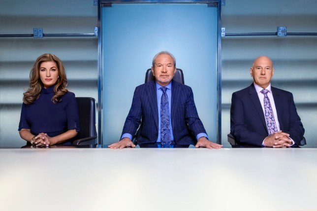 Lord Alan Sugar Karren Brady and Claude Littner in The Apprentice