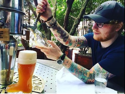 Ed Sheeran turns painter and opens a bar in London proving he doesn't know what 'time off' means