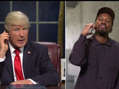 Alec Baldwin resurrects Donald Trump impression as he panics about impeachment with Kanye West on Saturday Night Live