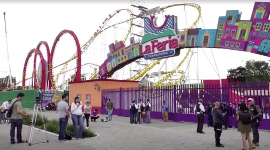 A general view of an amusement park where rollercoaster accident happened, in Mexico City, Mexico, September 28, 2019 in this still image taken from a video. Reuters TV via REUTERS