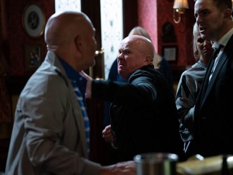 EastEnders fans rejoice as Phil Mitchell decks Jonno Highway for 'f*ggot' slur against Callum