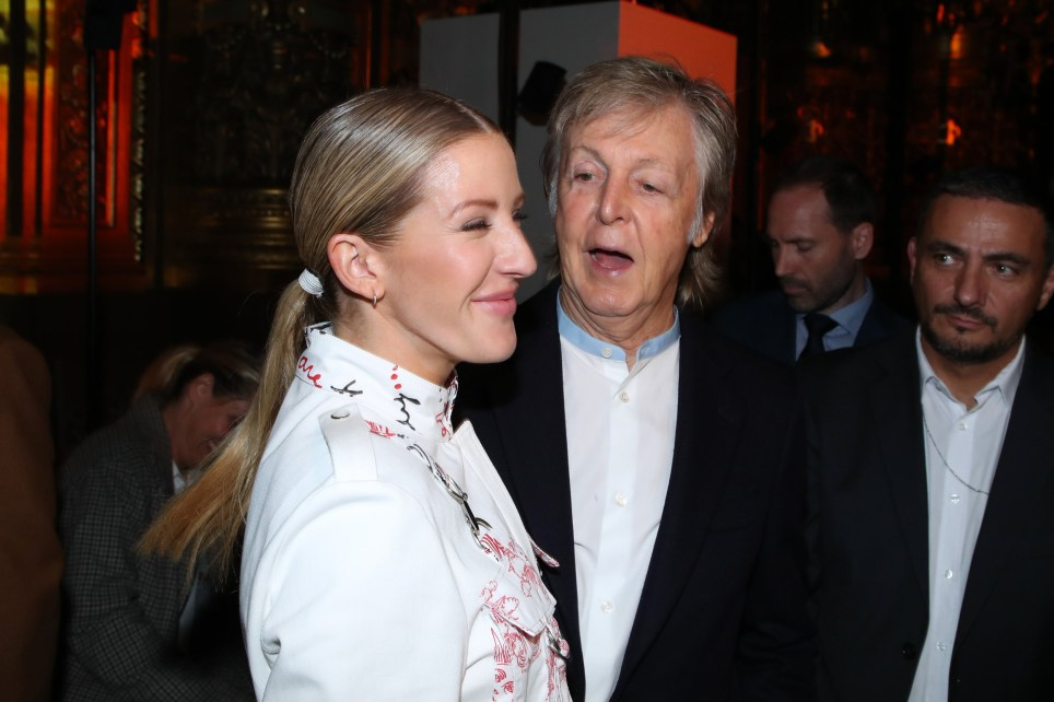 Ellie Goulding Gets Chummy With Paul Mccartney At Paris Fashion Week Metro News