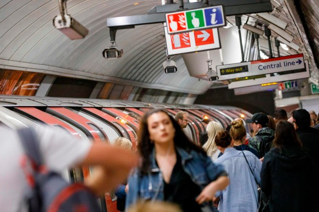 CCTV cameras operate at Oxford Circus tube station in London on August 16, 2019. (Photo by Tolga Akmen / AFP) (Photo credit should read TOLGA AKMEN/AFP/Getty Images)