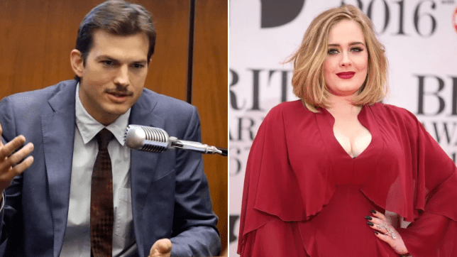 Ashton Kutcher and Adele