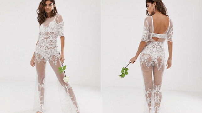 sale online where to buy stable quality ASOS sells see through bridal jumpsuit as alternative to ...