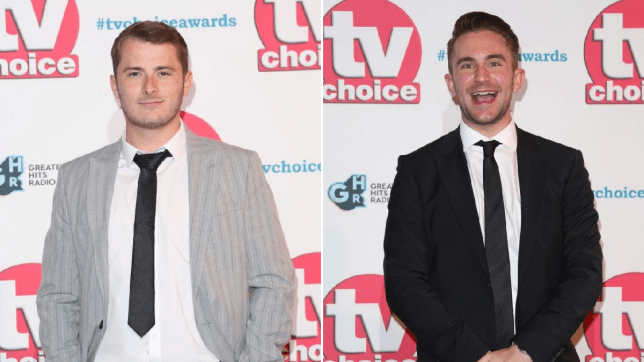 Ben and Callum in EastEnders at the TV Choice Awards