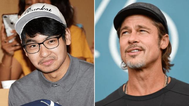 Maddox and Brad Pitt