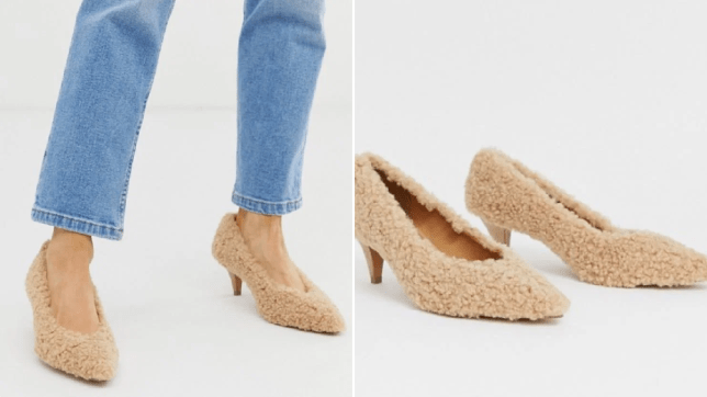 The ASOS shoes covered in teddy fleece