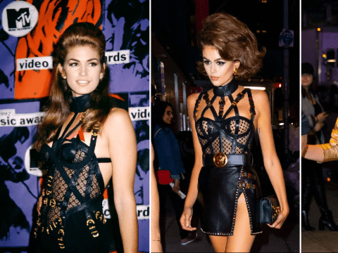 Kaia Gerber pays homage to mum Cindy Crawford in Versace dress at her 18th birthday