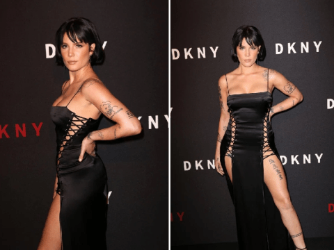 Halsey was seriously brave to wear this semi-frontless dress to New York Fashion Week