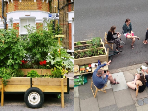 Scheme builds edible garden carts in unused spaces to bring communities together