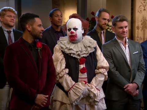 James Corden is back as Pennywise and looking for love on horrifying The BachelorIT spoof