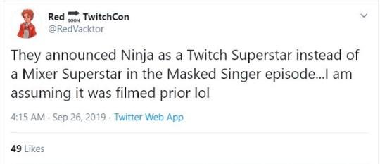 Ninja on The Masked Singer