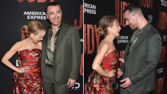 Renee Zellweger cuddles up to Sam Smith at Judy premiere after their Get Happy duet