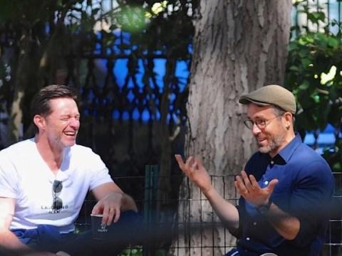 Ryan Reynolds and Hugh Jackman enjoy some quality lad time together over coffee
