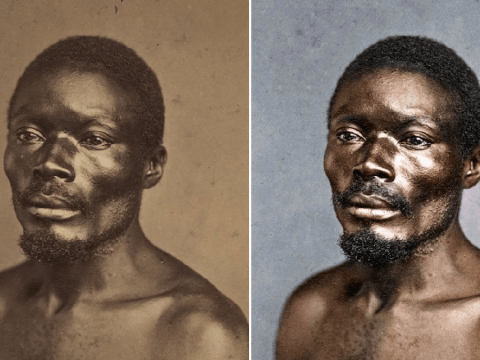 Portraits of slaves are even more heartbreaking transformed with colour