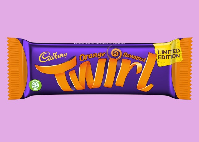 Orange flavour Twirl available now
