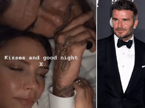 Victoria Beckham cuddles up to David in bed after falling asleep in GQ Awards red carpet outfits