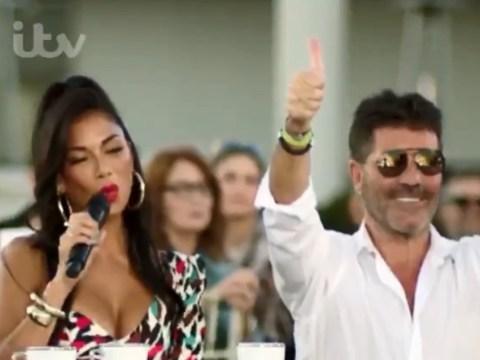Nicole Scherzinger and Louis Walsh return as X Factor judges for celebrity special