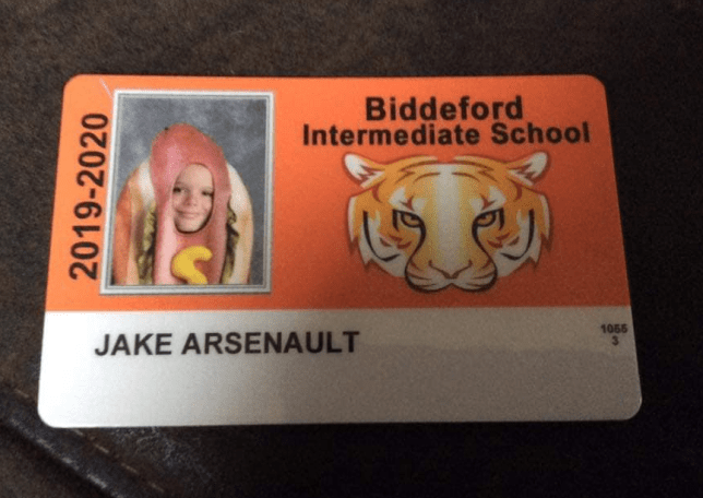 Photo of Jake Arsenault's school ID card