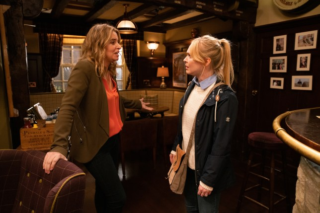 Charity and Vanessa in Emmerdale