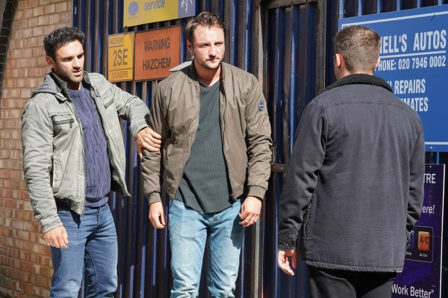 Ben, Martin and Kush in EastEnders